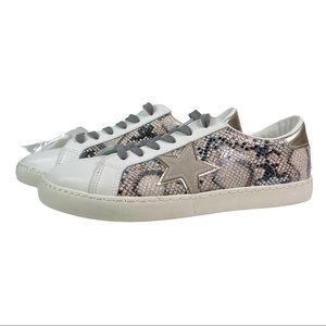 NEW Vintage Havana Bianca Sneakers White Snakeskin